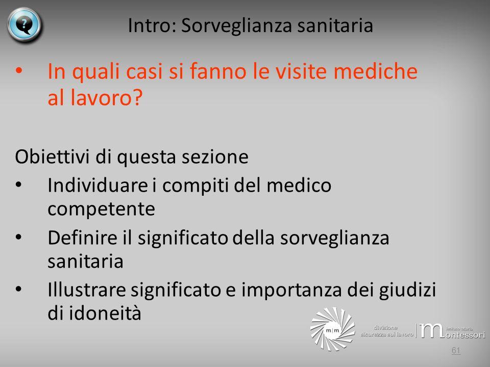 Intro: Sorveglianza sanitaria