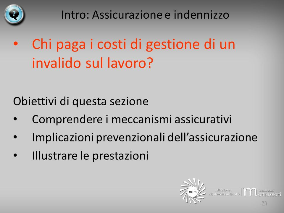 Intro: Assicurazione e indennizzo