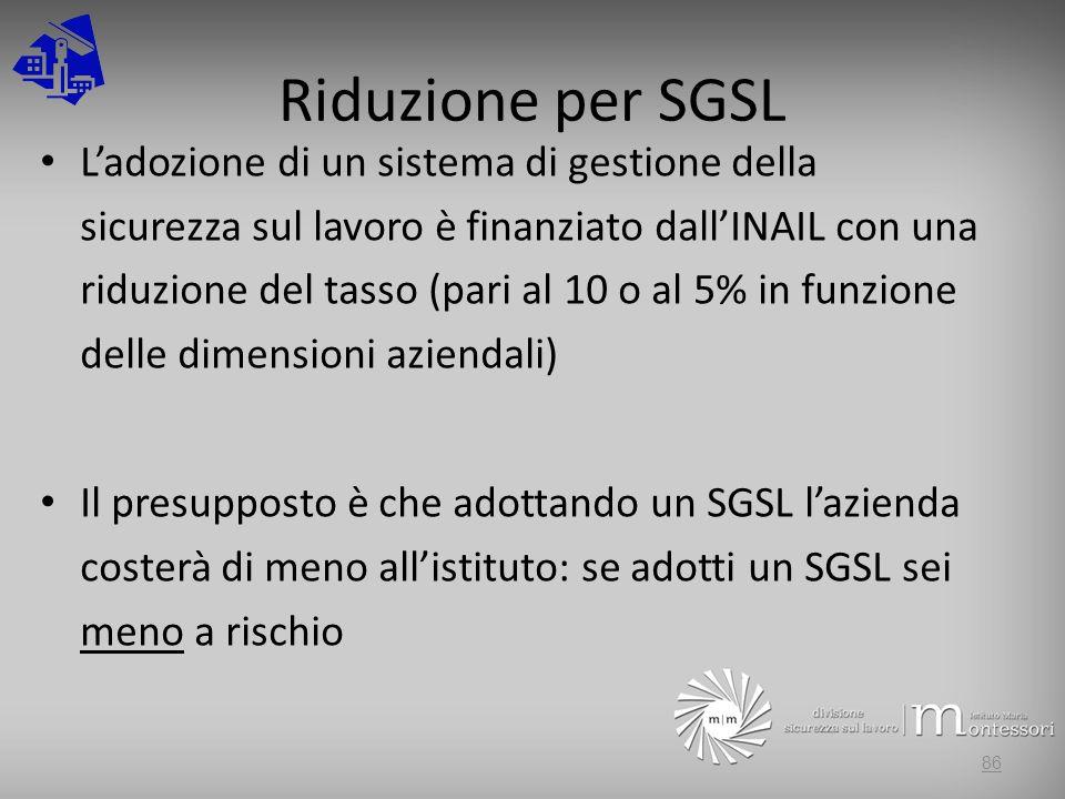 Riduzione per SGSL