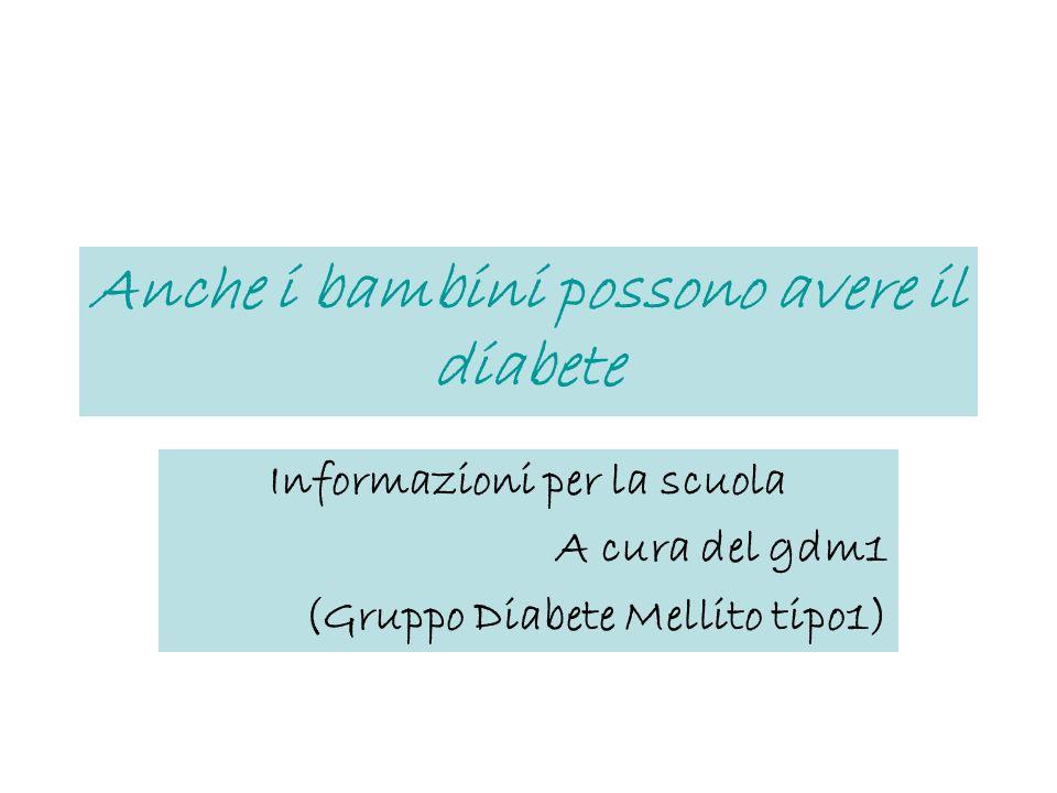 Anche i bambini possono avere il diabete