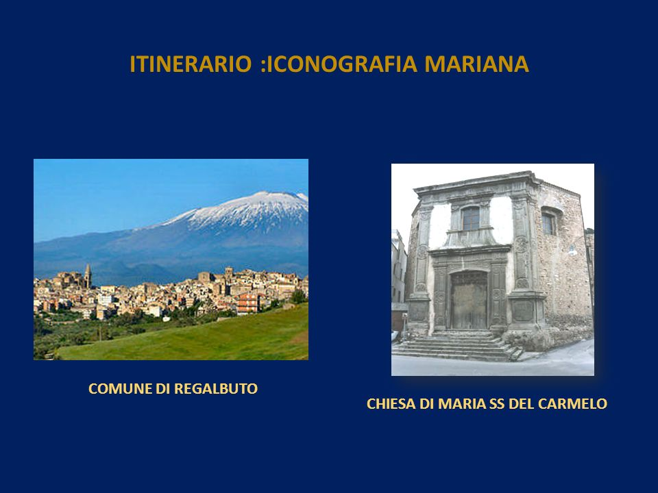 ITINERARIO :ICONOGRAFIA MARIANA