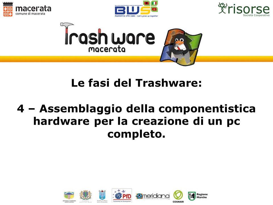 Le fasi del Trashware: 4 – Assemblaggio della componentistica hardware per la creazione di un pc completo.