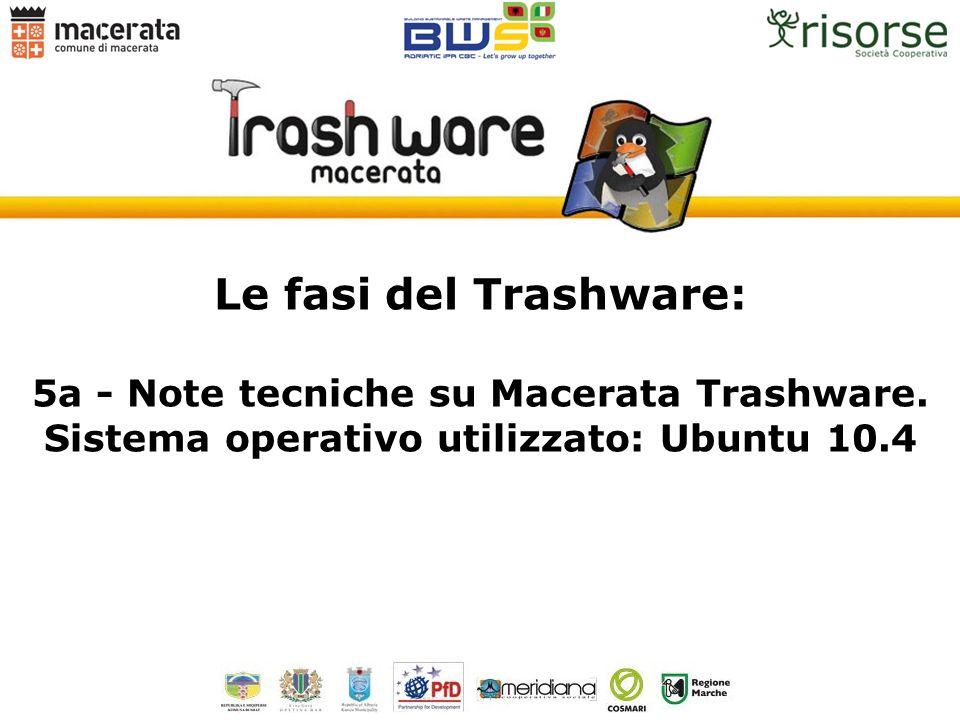 Le fasi del Trashware: 5a - Note tecniche su Macerata Trashware.