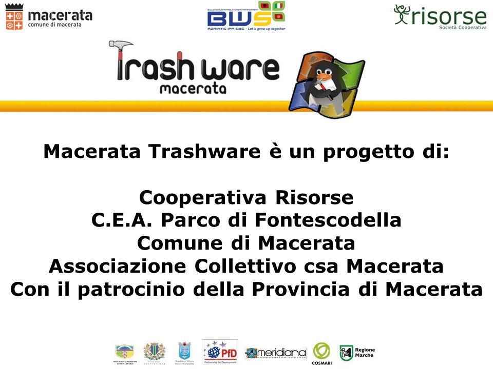 Macerata Trashware è un progetto di: Cooperativa Risorse