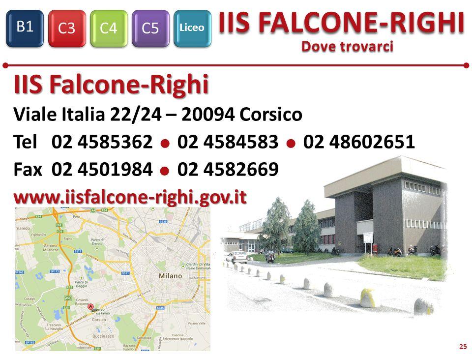 IIS Falcone-Righi Viale Italia 22/24 – 20094 Corsico