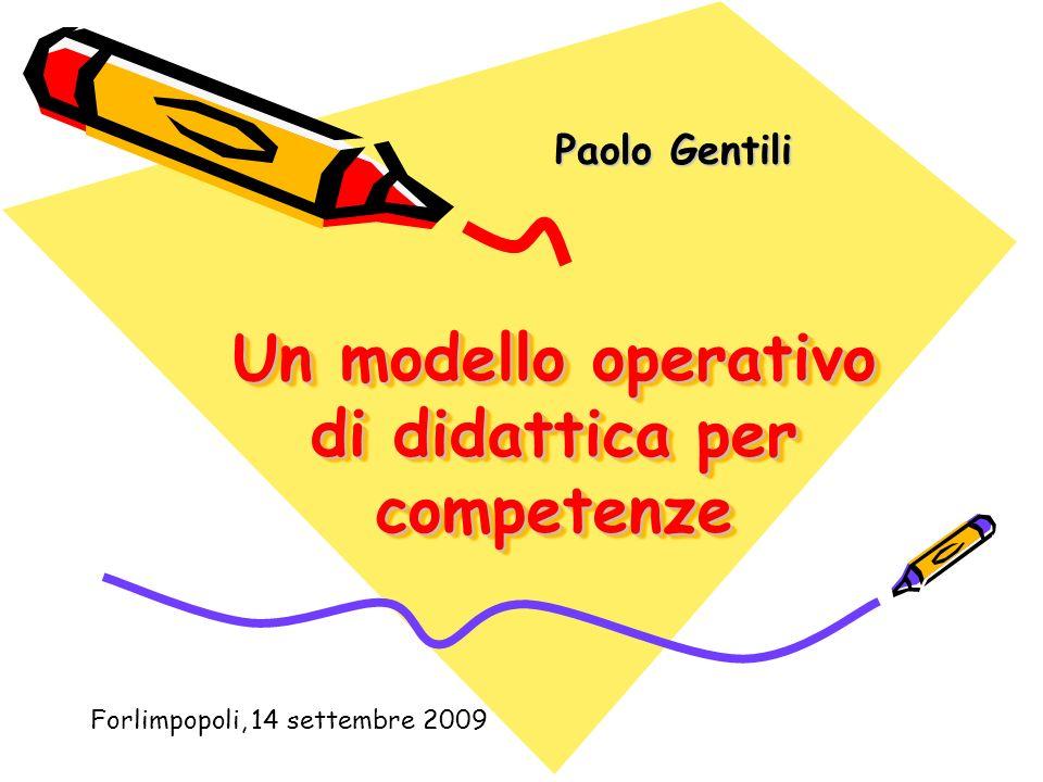 Un modello operativo di didattica per competenze