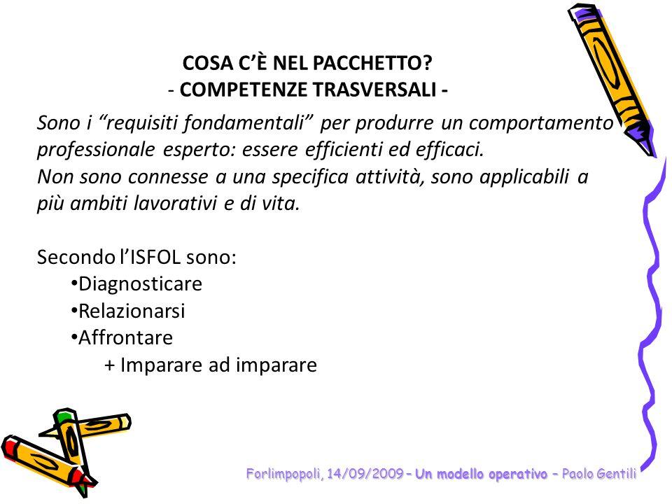 COMPETENZE TRASVERSALI -