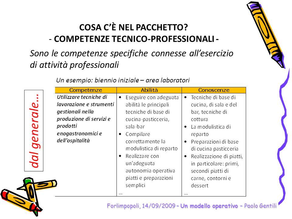 COMPETENZE TECNICO-PROFESSIONALI -