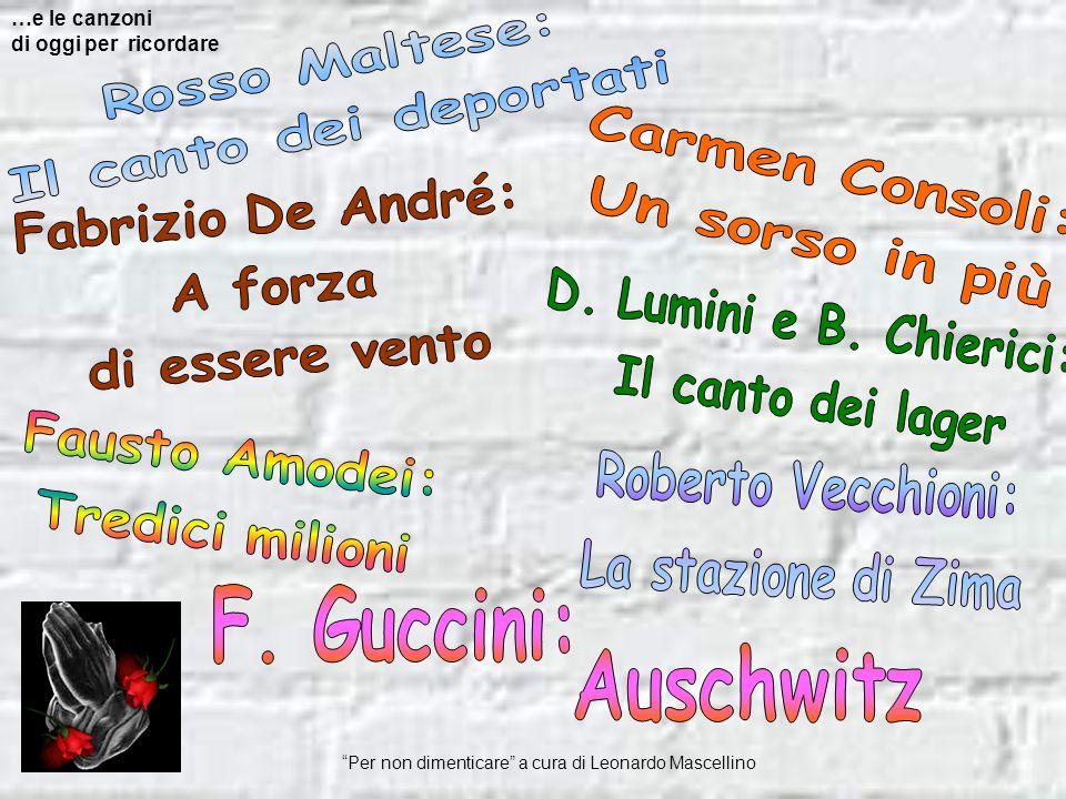 Carmen Consoli: Un sorso in più Fabrizio De André: A forza