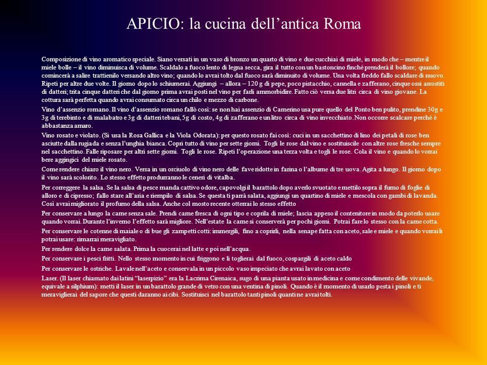 APICIO: la cucina dell'antica Roma