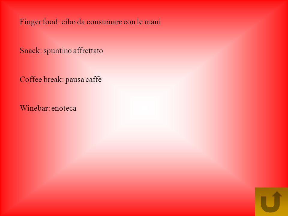 Finger food: cibo da consumare con le mani