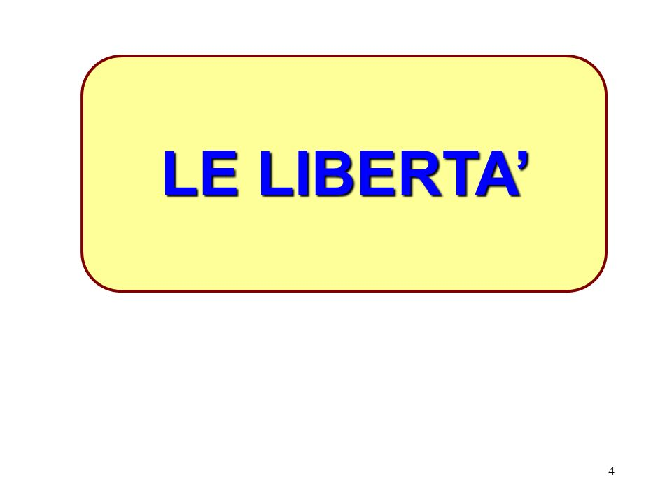 LE LIBERTA'