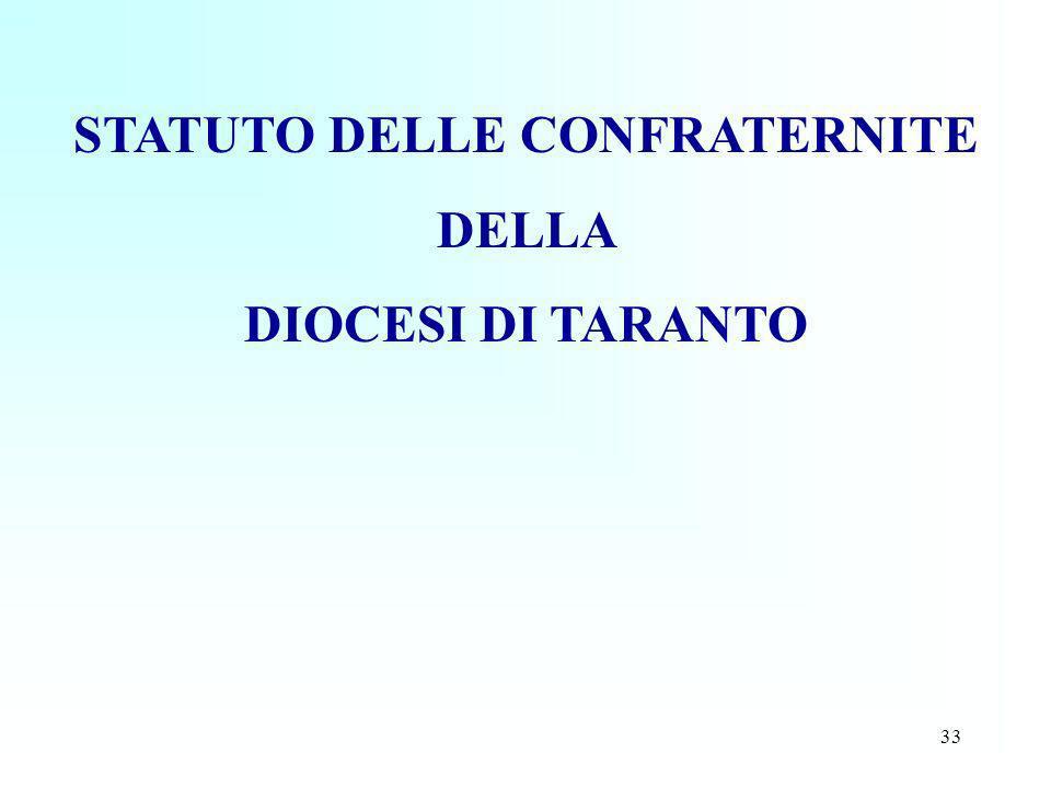 STATUTO DELLE CONFRATERNITE