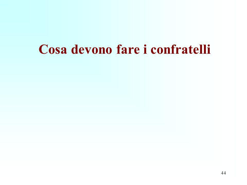 Cosa devono fare i confratelli