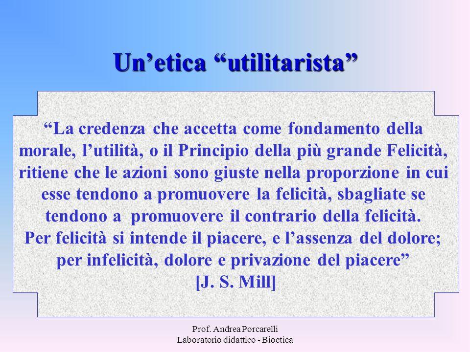 Un'etica utilitarista