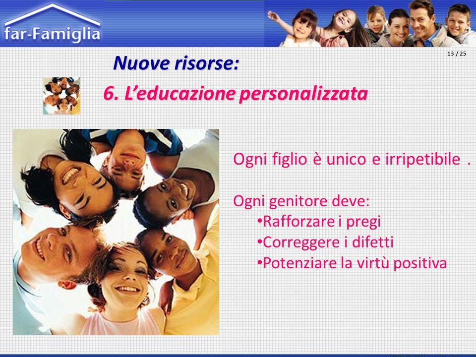 6. L'educazione personalizzata