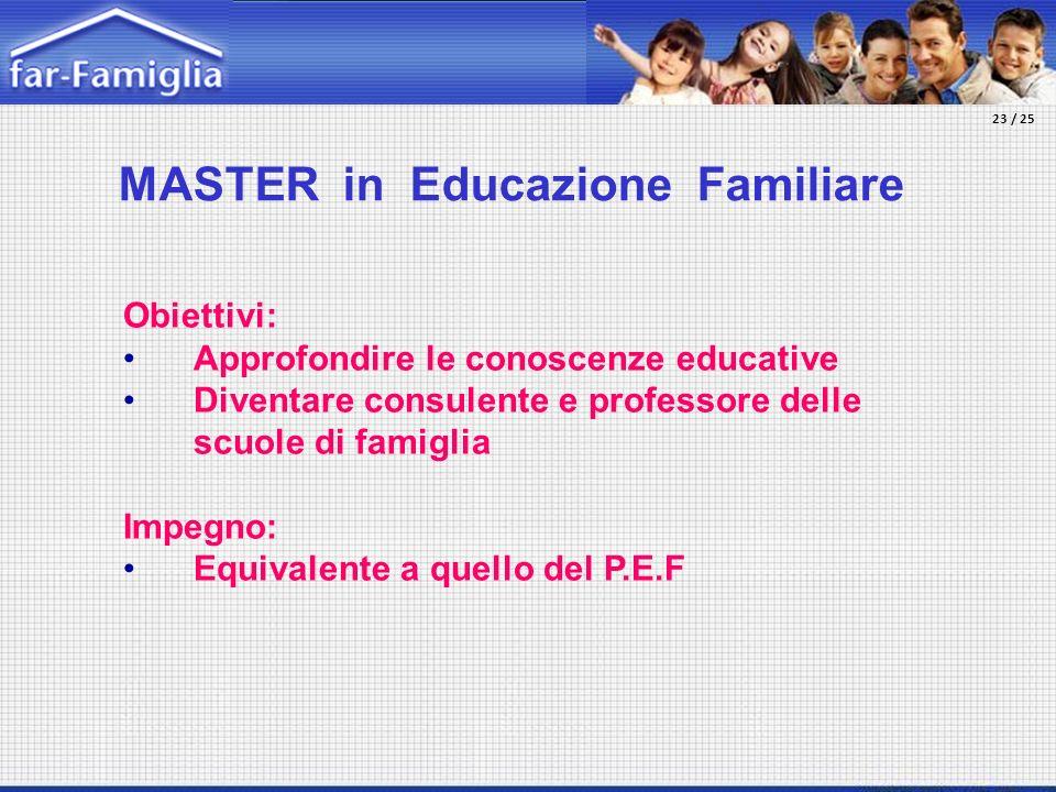 MASTER in Educazione Familiare