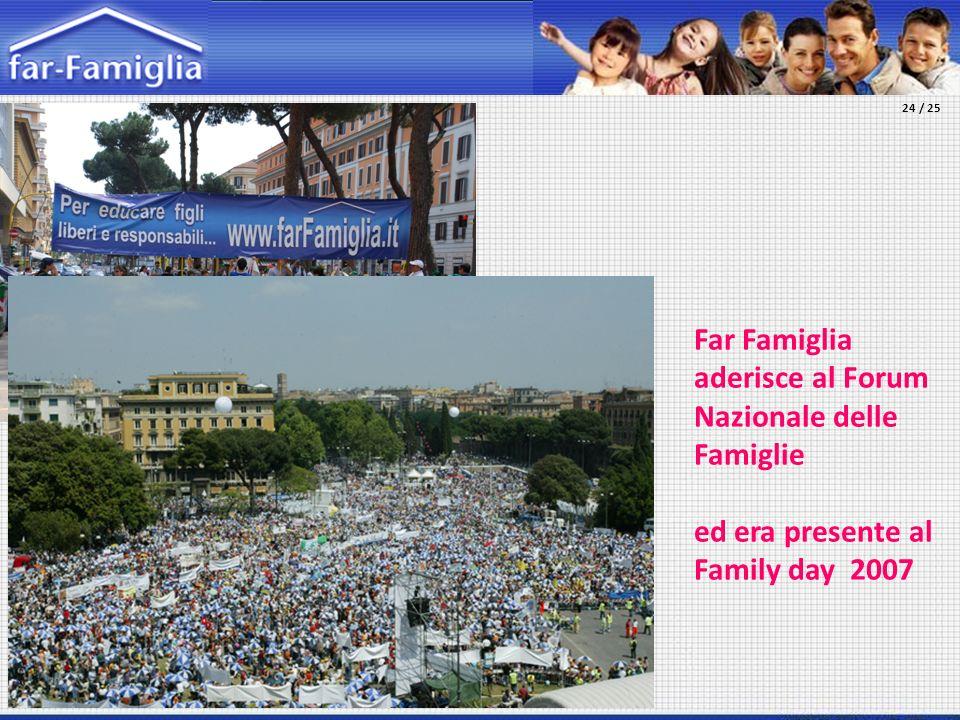 Far Famiglia aderisce al Forum Nazionale delle Famiglie