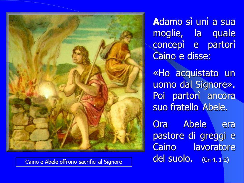 Caino e Abele offrono sacrifici al Signore