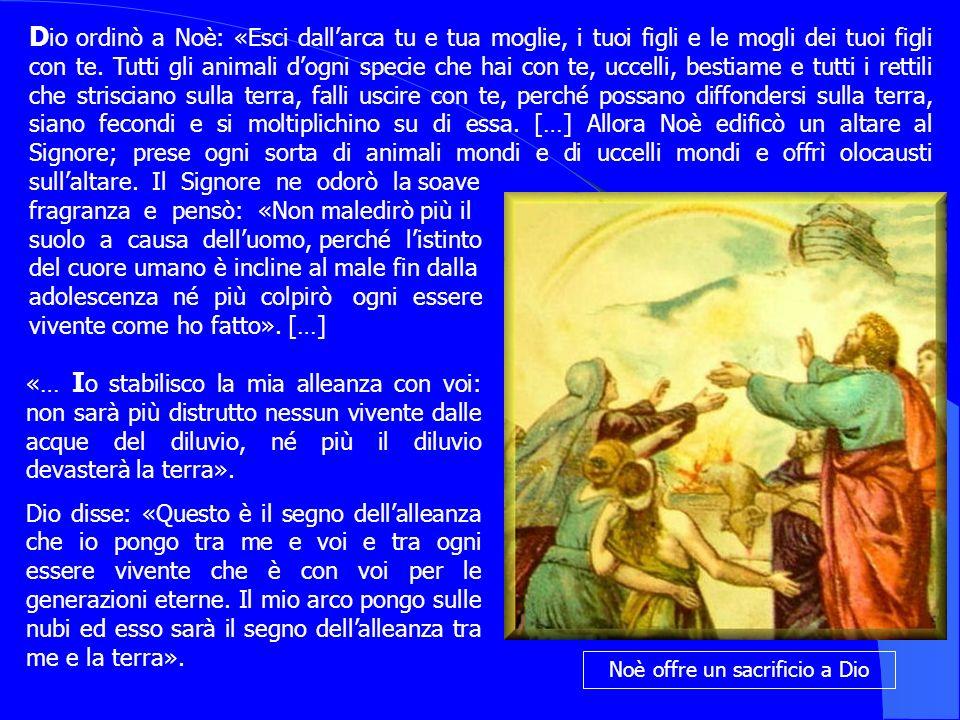 Noè offre un sacrificio a Dio