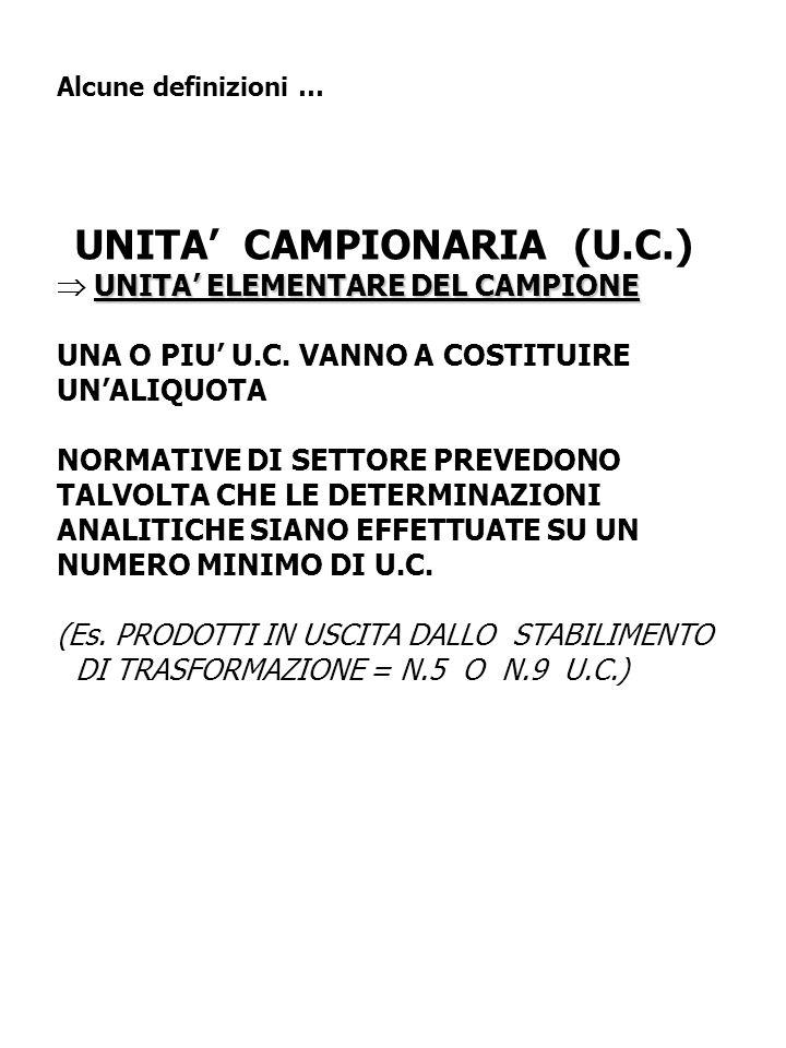 UNITA' CAMPIONARIA (U.C.)