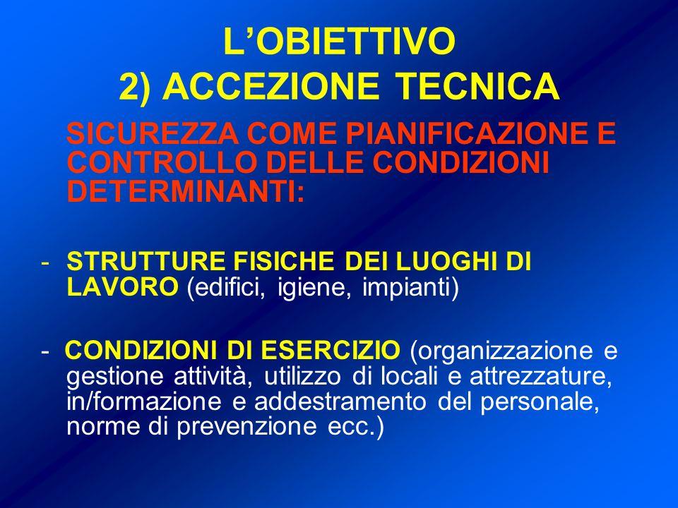 L'OBIETTIVO 2) ACCEZIONE TECNICA