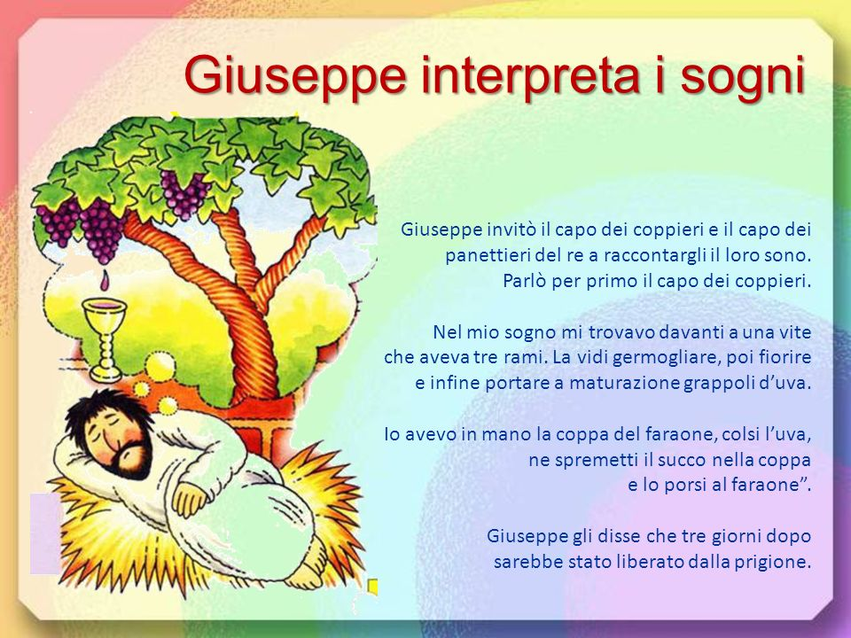 Giuseppe interpreta i sogni