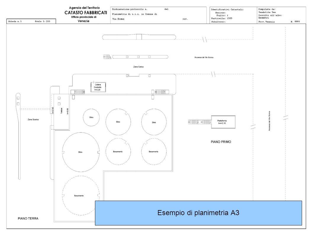 Esempio di planimetria A3