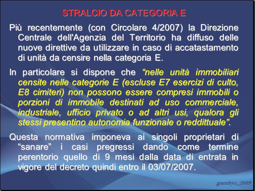 STRALCIO DA CATEGORIA E