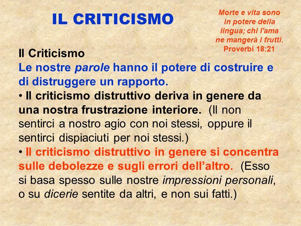 IL CRITICISMO Il Criticismo