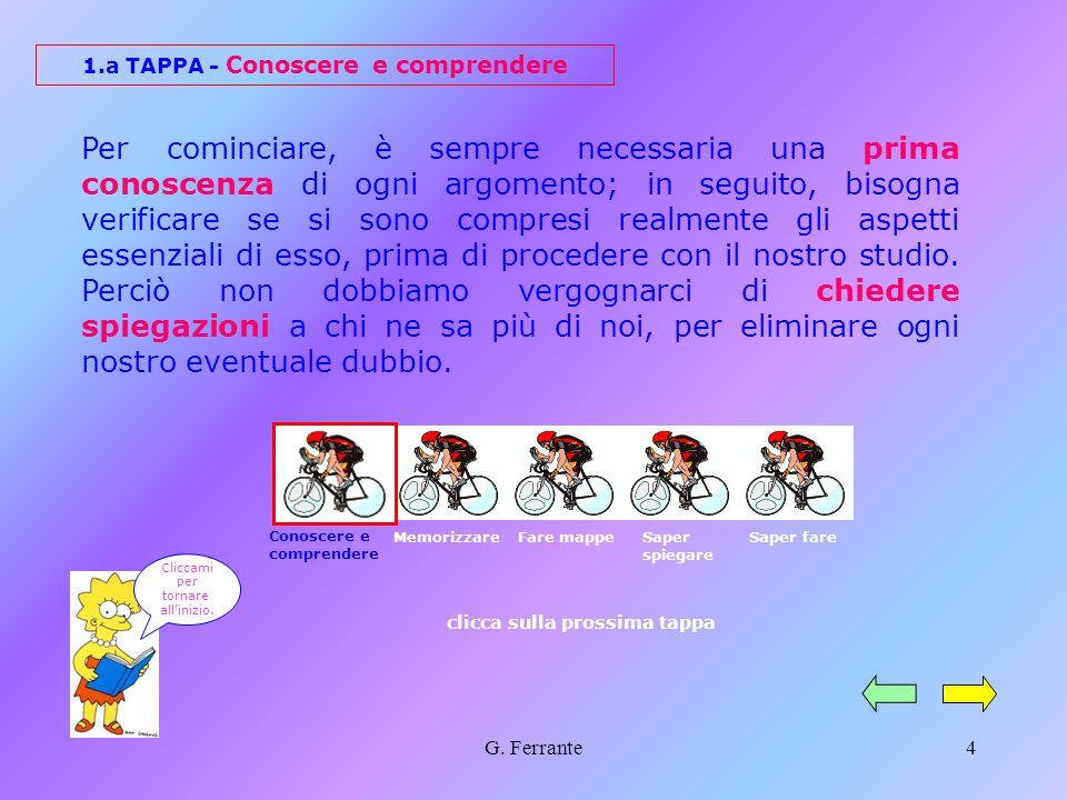 1.a TAPPA - Conoscere e comprendere clicca sulla prossima tappa