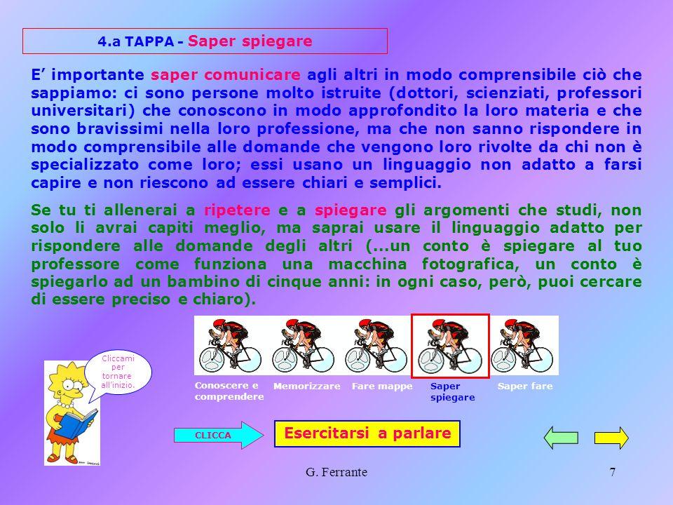 4.a TAPPA - Saper spiegare