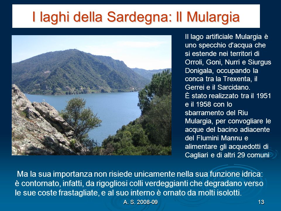 I laghi della Sardegna: Il Mulargia