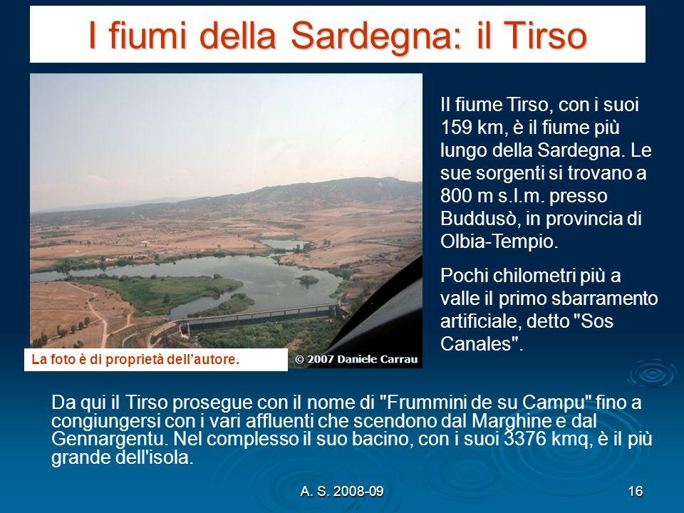 I fiumi della Sardegna: il Tirso