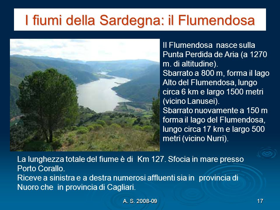 I fiumi della Sardegna: il Flumendosa
