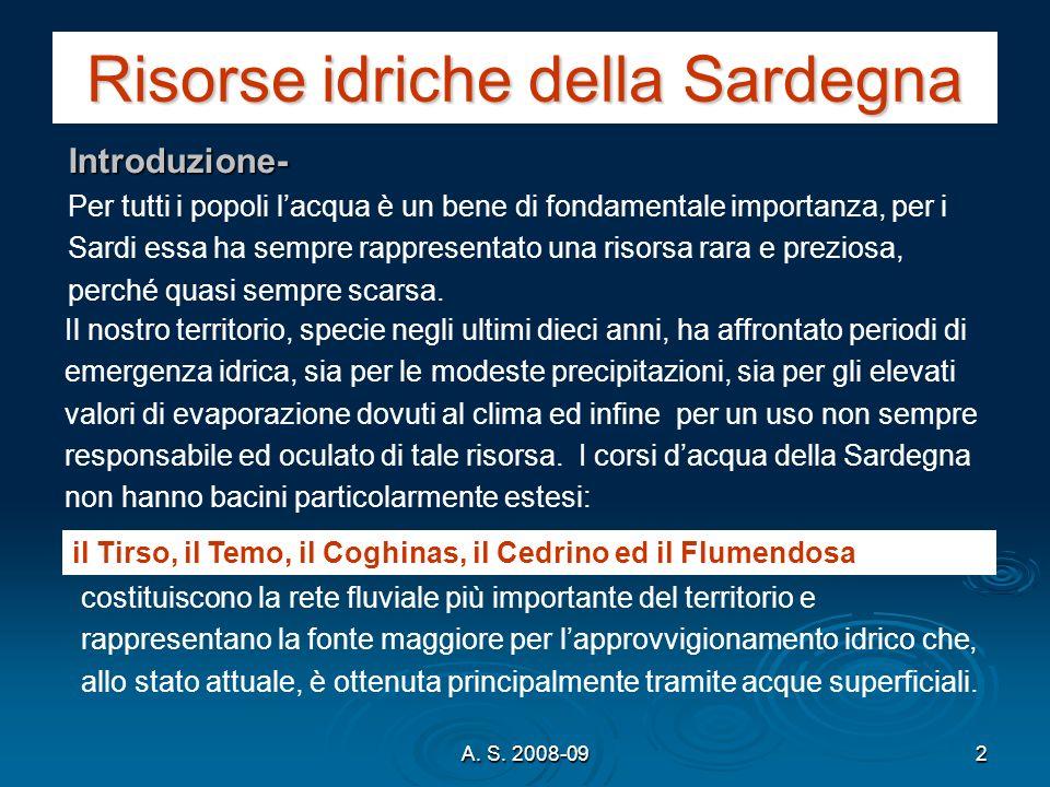 Risorse idriche della Sardegna