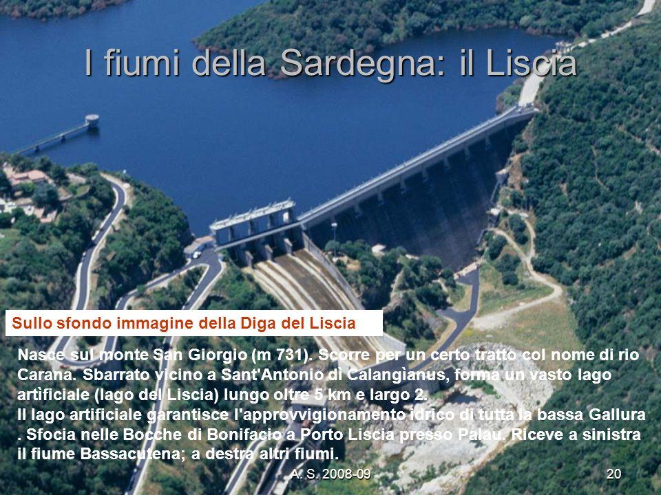 I fiumi della Sardegna: il Liscia