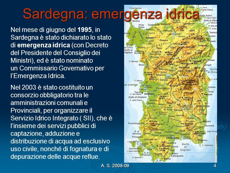 Sardegna: emergenza idrica