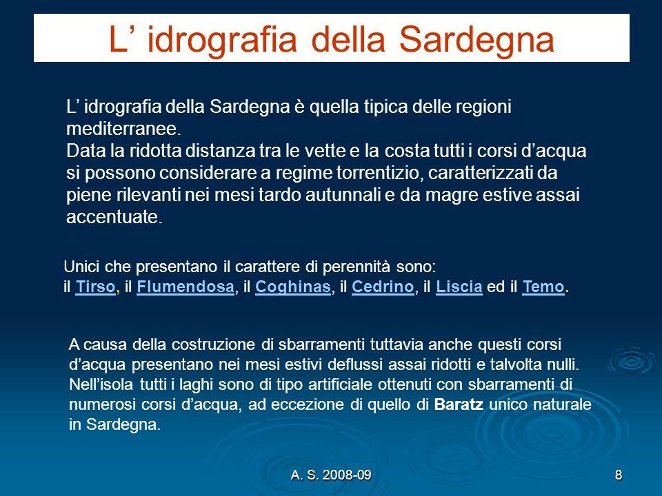 L' idrografia della Sardegna