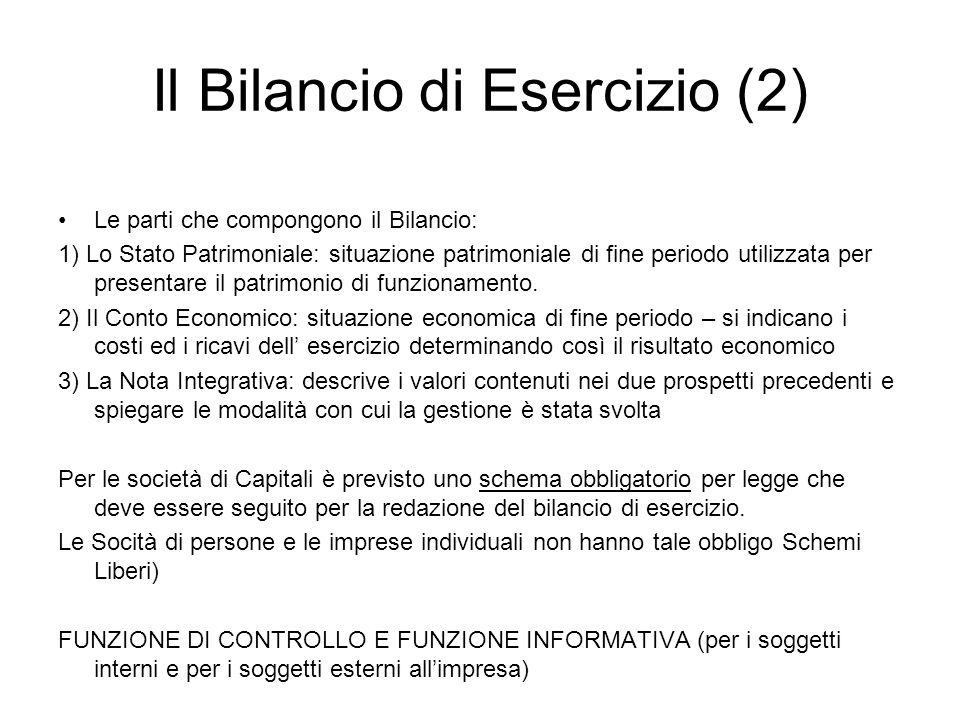 Il Bilancio di Esercizio (2)