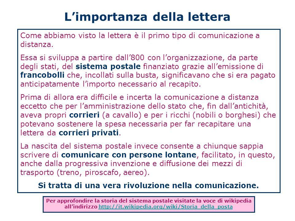 L'importanza della lettera