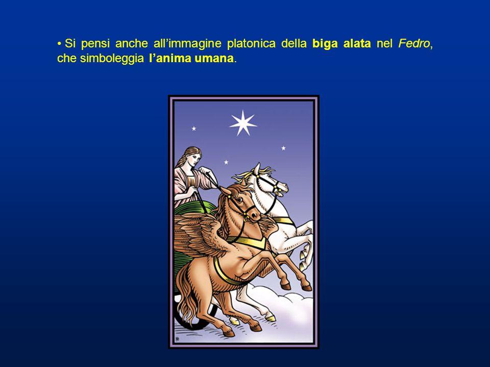 Si pensi anche all'immagine platonica della biga alata nel Fedro, che simboleggia l'anima umana.