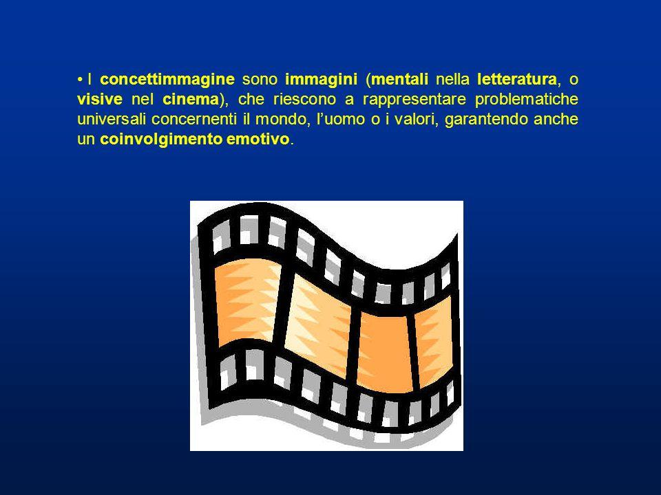 I concettimmagine sono immagini (mentali nella letteratura, o visive nel cinema), che riescono a rappresentare problematiche universali concernenti il mondo, l'uomo o i valori, garantendo anche un coinvolgimento emotivo.