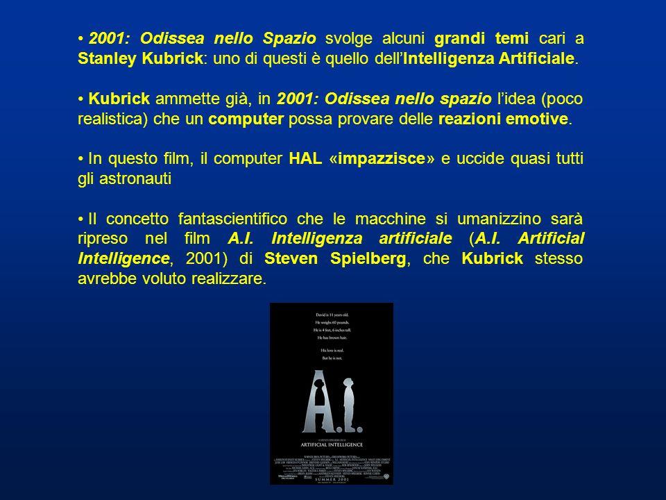 2001: Odissea nello Spazio svolge alcuni grandi temi cari a Stanley Kubrick: uno di questi è quello dell'Intelligenza Artificiale.