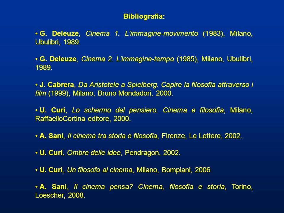 Bibliografia: G. Deleuze, Cinema 1. L'immagine-movimento (1983), Milano, Ubulibri, 1989.