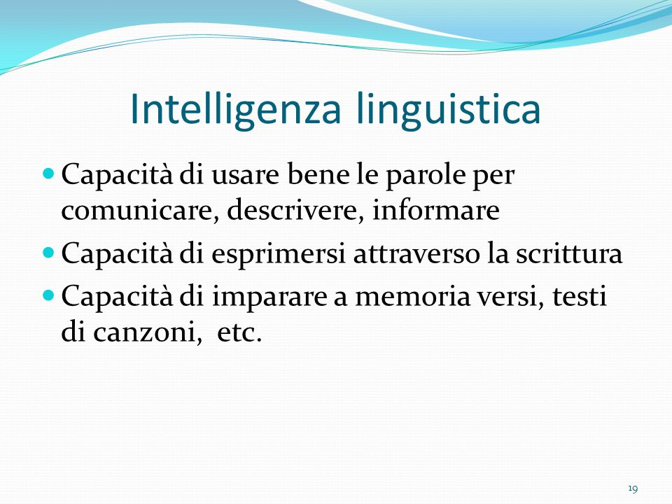 Intelligenza linguistica
