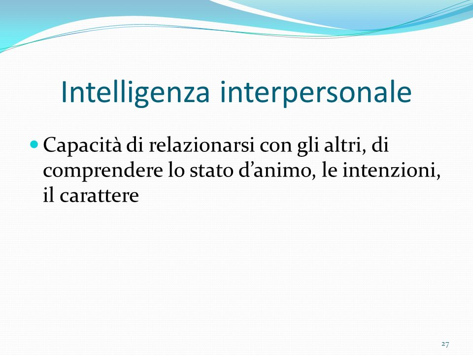 Intelligenza interpersonale