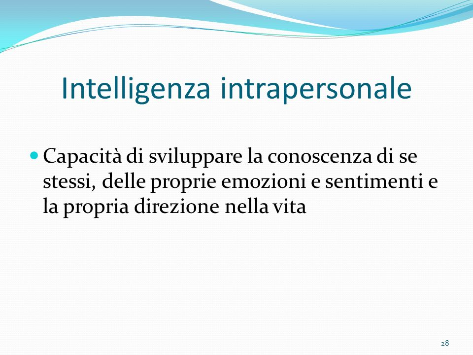 Intelligenza intrapersonale