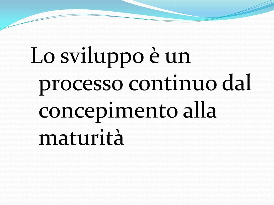 Lo sviluppo è un processo continuo dal concepimento alla maturità