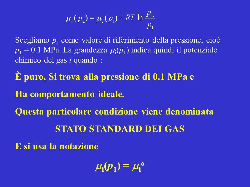 mi(p1) = miø È puro, Si trova alla pressione di 0.1 MPa e